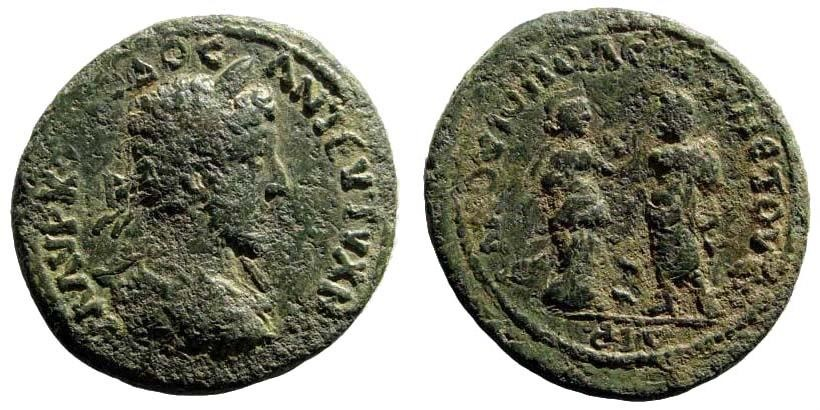 Ancient Coins - Kilikia, Flaviopolis-Flavias. Commodus. 177-192 AD. AE 25mm (10.28 gm). Dated CY 114 (186/7 AD). SNG Levante 1542