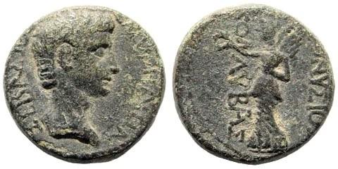 Ancient Coins - Ionia, Smyrna. Augustus, 27 BC-14 AD. AE 16mm (7.04 gm). Hermokles, circa 15 BC. RPC I, 2463