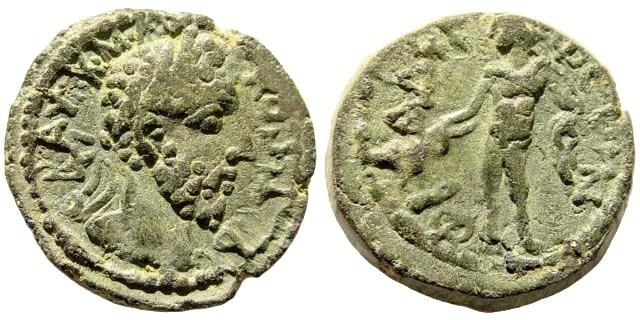 Ancient Coins - Kilikia, Philadelphia. Commodus. 177-192 AD. AE 17mm (4.63 gm, 6h). Unpublished