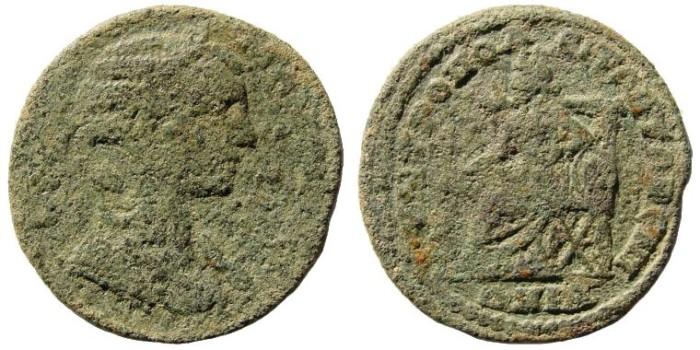 Ancient Coins - Ionia, Metropolis. Julia Mamaea, mother of Alexander Severus. 222-235 AD. AE 30mm (10.71 gm). SNG Copenhagen 918