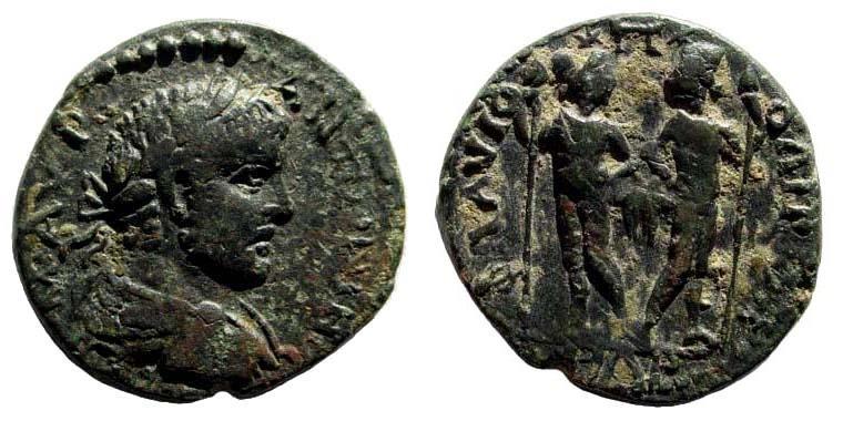 Ancient Coins - Kilikia, Flaviopolis. Caracalla. 198-217 AD. AE 25mm (8.50 gm). Dated CY year 139 (211/2 AD). SNG Levante 1546 (same dies)