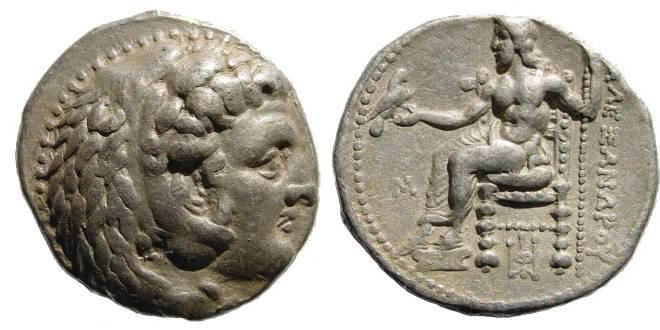 Ancient Coins - Macedonian Kings. Alexander III. 336-323 BC. AR Tetradrachm (17.11 gm). Babylon mint. Price 3692