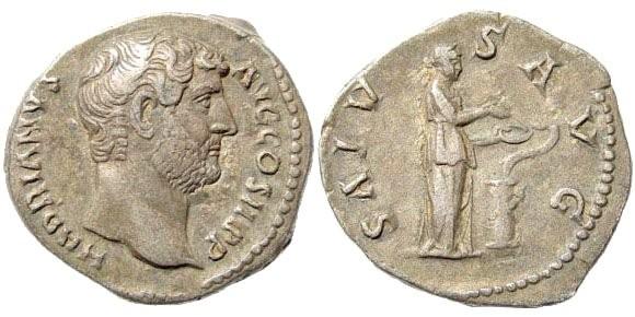 Ancient Coins - Hadrian. 117-138 AD. AR Denarius (2.90 gm, 18mm). Struck circa 134-138 AD. RIC II 267; BMCRE 715; RSC 1335