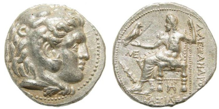 Ancient Coins - Macedonian Kings. Alexander III 'the Great'. 336-323 BC. AR Tetradrachm (17.17 gm, 26mm, 6h). Babylon mint. Ca. 315-311 BC. Price 3772