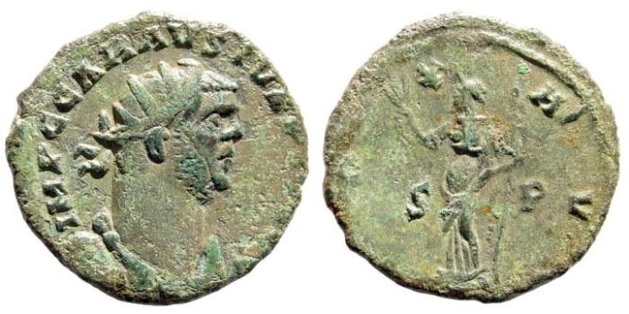 Ancient Coins - Carausius, 287-293 AD. Billon antoninianus (3.7 gm, 23mm). London, circa 290-292 AD. RIC 118