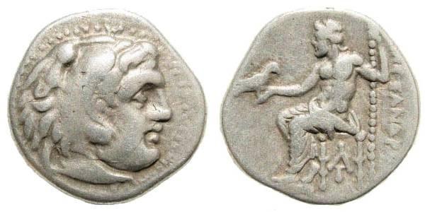 Ancient Coins - Macedonian Kingdom, Alexander III, 336-323 BC, AR Drachm (4.19 gm, 18mm). Colophon, 310-301 BC. Price 1813