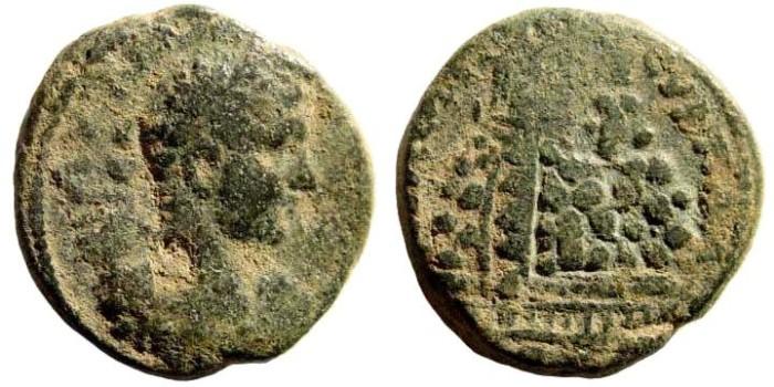 Ancient Coins - Samaria, Neapolis. Elagabalus, 218-222 AD. AE 20mm (8.94 gm). SNG ANS 1000