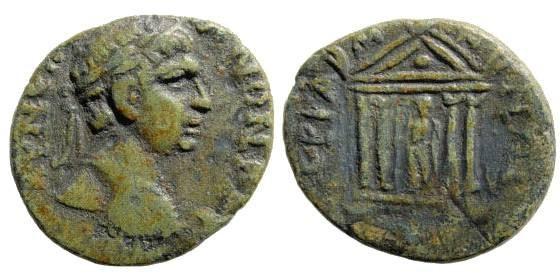 Ancient Coins - Mysia, Pergamon. Trajan, 98-117 AD. AE 20mm (4.52 gm). SNG France 5, 2062