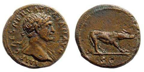 Ancient Coins - Trajan. 98-117 AE Quadrans (3.16 gm). Struck circa 98-102 AD. BMCRE 1060; Cohen 338