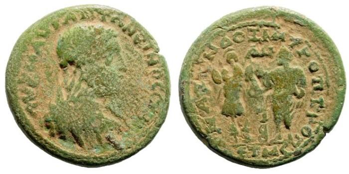 Ancient Coins - Cilicia, Anazarbus. Elagabalus. 218-222 AD. AE Tetrassaria/ 29mm (19.29 gm). Ziegler, Anazarbos, 461 (Vs1/ Rs1)
