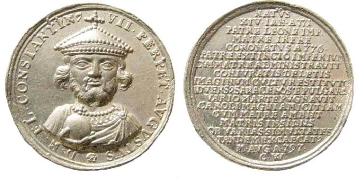 Ancient Coins - Germany. 18th century (dies). Pewter Medal (12.93 gm, 37mm). Commemorating the Byzantine Emperors. Later work