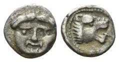 Ancient Coins - Pisidia, Selge. Circa 250-190 BC. AR Hemiobol (0.48 gm, 8mm). SNG Aulock 5275