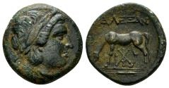 Ancient Coins - Troas, Alexandria. Circa 261-227 BC. AE 18mm (3.79 gm). SNG von Aulock 7546