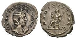 Ancient Coins - Herennia Etruscilla. Augusta, 249-251 AD. AR Antoninianus (3.88 gm, 23mm). Rome mint. RIC IV 59b (Decius)
