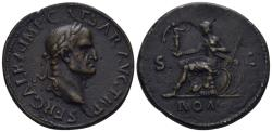 """World Coins - 19th Century or earlier AE Cast """"Sestertius"""" (24.61 gm, 34mm). """"Paduan"""" medal. Galba"""