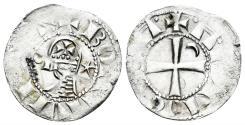 World Coins - Crusaders, Antioch. Bohémond III. 1163-1201. BI Denier (0.89 gm, 18mm). Antioch mint. Metcalf, Crusades 381-2