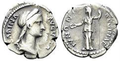 Ancient Coins - Sabina, Augusta. 117-136/7 AD. AR Denarius (2.80 gm, 19mm) Rome mint. Struck 128-134 AD. RIC II 395a (Hadrian)