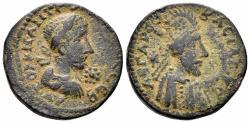 Ancient Coins - Mesopotamia, Edessa. Gordian III, 238-244 AD. AE Diassarion (9.53 gm, 24mm). BMC 149-150
