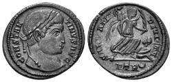 Ancient Coins - Constantine I. 307/310-337 AD. AE Follis (3.48 gm, 21mm). Treveri (Trier) mint, 323-324 AD. RIC 435