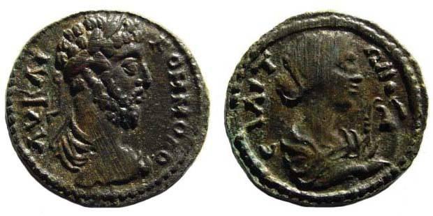 Ancient Coins - Aeolis, Elaia, Commodus, 180-196 AD, AE 18.55 mm (4.14 gm.). SNG München 431