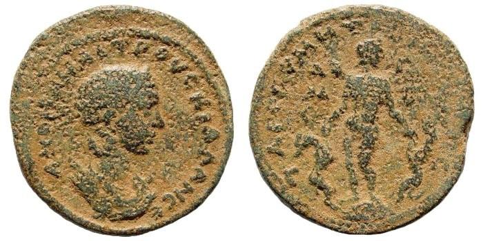 Ancient Coins - Cilicia, Tarsus. Herennia Etruscilla, wife of Trajan Decius. Augusta, 249-251 AD. AE 30mm (17.21 gm). SNG Levante 1171 (same dies)