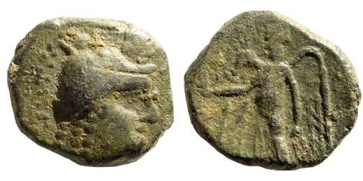 Ancient Coins - Nabataean Kingdom. Aretas II. Circa 110 - 96 BC. AE 17mm (3.65 gm). Damascus mint. Meshorer 1a