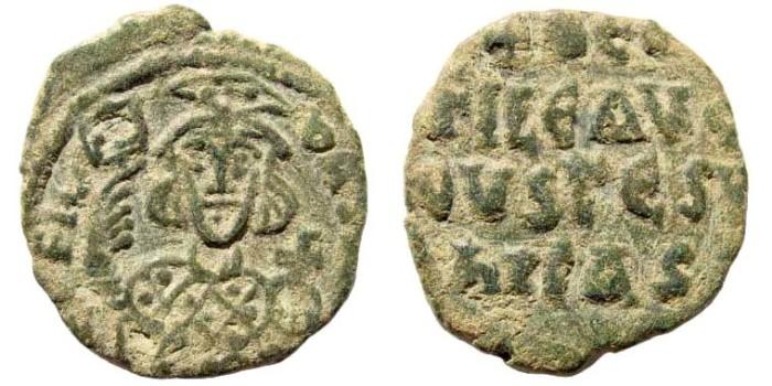 Ancient Coins - Theophilus, 829-842. AE Follis (6.08 gm, 26mm). Uncertain Provincial mint. DOC 17; SB 1685
