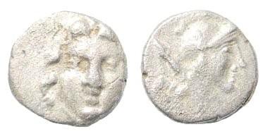 Ancient Coins - Pisidia, Selge. Circa. 400-333 BC. AR Obol (0.93 gm, 10mm). SNG BN Paris 1953