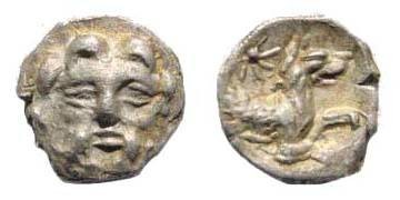 Ancient Coins - Cilicia, uncertain mint, 4th century BC, AR Obol (0.69 gm.). SNG Levante 227