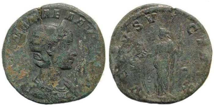 Ancient Coins - Julia Mamaea, †235, AE Sestertius (15.53). BMC 185, 719. RIC 127, 705. Cohen 78