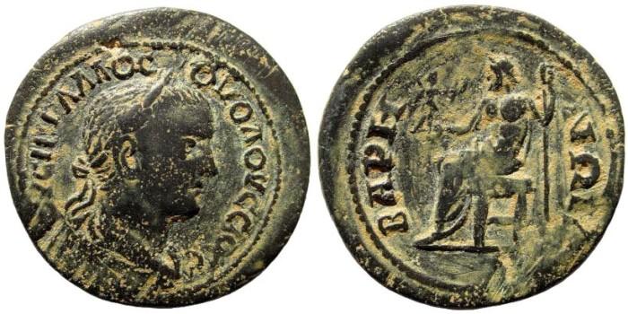 Ancient Coins - Pisidia, Baris. Volusian, 251-253 AD. AE 26mm (7.83 gm). SNG BN Paris 1413. Rare
