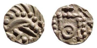 Ancient Coins - Frisia, ca. 695-740 AD, AR Sceatta (1.09 gm). S 789