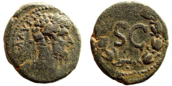 Ancient Coins - Syria, Seleucis and Pieria. Antioch. Lucius Verus, 161-169 AD. AE 25mm (10.81 gm). McAlee 613a