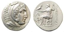 Ancient Coins - Macedonian Kingdom. Alexander III 'the Great'. 336-323 BC. AR Tetradrachm (17.19 gm, 27mm). 'Amphipolis' mint. Price 478