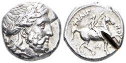 Ancient Coins - Macedonian Kingdom. Philip II. 359-336 BC. AR Tetradrachm (14.35 gm, 23mm). Amphipolis mint. Le Rider pl. 44, 6 (star)