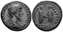 Ancient Coins - Pisidia, Selge. Lucius Verus, 161-169 AD. AE 32mm (20.41 gm). RPC Online 4960 (same dies). Very rare