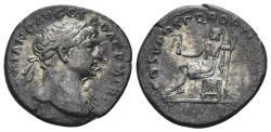 Ancient Coins - Trajan. 98-117 AD. AR Denarius (2.71 gm, 19mm). Rome mint. Struck circa 107-111 AD. RIC II 116