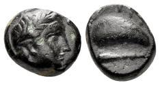 Ancient Coins - Aiolis, Gyrneion. 4th-3rd centuries BC. AE 10.5mm (1.93 gm). SNG Copenhagen 207