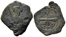 World Coins - Crusaders, Antioch. Tancred. Regent, 1101-03, 1104-12. AE Follis (3.91 gm, 27mm). Second type. Metcalf, Crusades 63-70