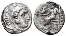 Ancient Coins - Macedonian Kingdom. Philip III Arrhidaios. 323-317 BC. AR Drachm (4.00 gm, 17mm). Sardes mint. Struck under Menander or Kleitos, circa 322-319/8 BC. Price P109
