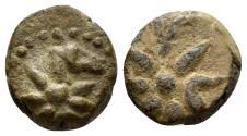 Ancient Coins - Uncertain Bosporus and Pontus. Circa 130-100 BC. AE 12mm (2.25 gm). SNG British Museum, Black Sea 984. Rare coin with Comet