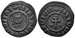 World Coins - Kingdom of Cilician Armenia. Levon I, 1198-1219. AE Tank (7.79 gm, 28mm). Nercessian 303