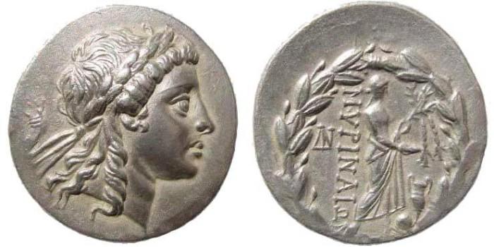 Ancient Coins - Aeolis, Myrina. Circa 155-145 BC. AR Tetradrachm (15.63 gm, 31mm). Sacks Issue 22