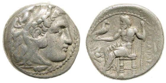 Ancient Coins - Macedonian Kingdom, Alexander III, 336-323 BC, AR Drachm (4.17 gm, 17mm). Magnesia, 323-319 BC. Price 1936