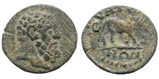 Ancient Coins - Lydia, Thyatira. Imperial Times, 3rd century AD, Severan dynasty, AE 15 (1.55 gm). SNG Copenhagen 594