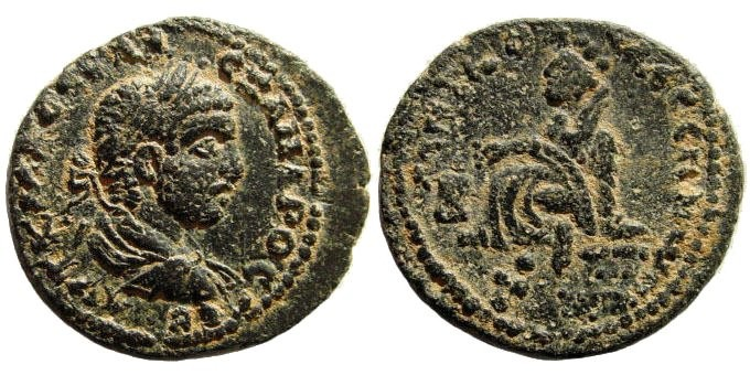 Ancient Coins - Mesopotamia, Edessa. Alexander Severus. 222-235 AD. AE 22mm (6.85 gm). BMC -; SNG Copenhagen -; Lindgren/ Kovacs -