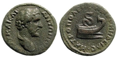 Ancient Coins - Bithynia, Nikomedeia. Antoninus Pius. 138-161 AD. AE 19mm (3.63 gm). Apparently unpublished