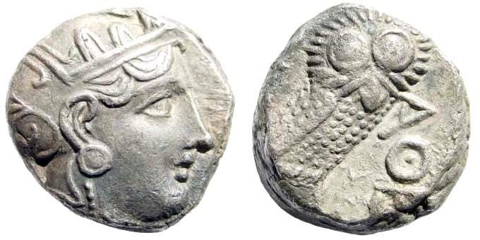 Ancient Coins - Attica, Athens. Circa 337-294 BC. AR Tetradrachm (16.97 gm, 20mm). Svoronos pl. 20
