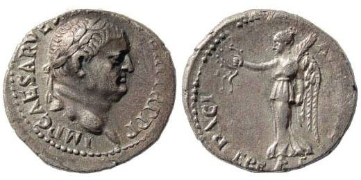 Ancient Coins - Ionia, Ephesus. Vespasian, 69-79, AR Denarius (3.22 gm) Ephesus circa 71. BMCRE p. 96*; RIC 332; RPC 834