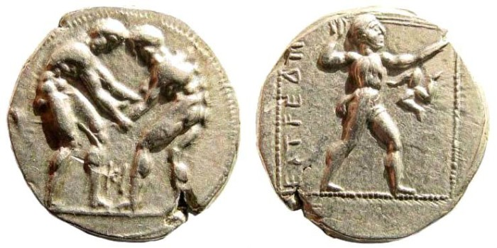 Ancient Coins - Pamphylia, Aspendos. Circa 400-370 BC. AR Stater (10.85 gm, 23mm). SNG von Aulock 4557